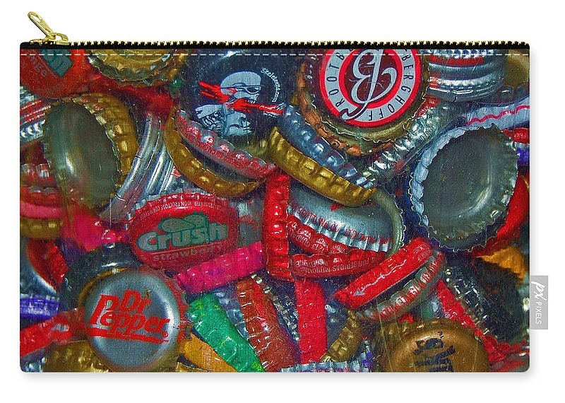Bottles Carry-all Pouch featuring the photograph Pop Art by Debbi Granruth