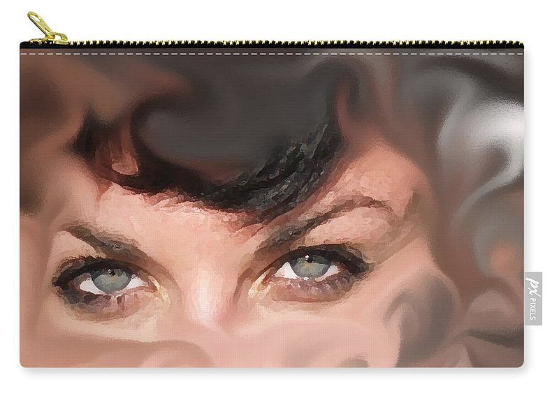 Eyes Carry-all Pouch featuring the photograph Pop Art Eyes by Heather Coen