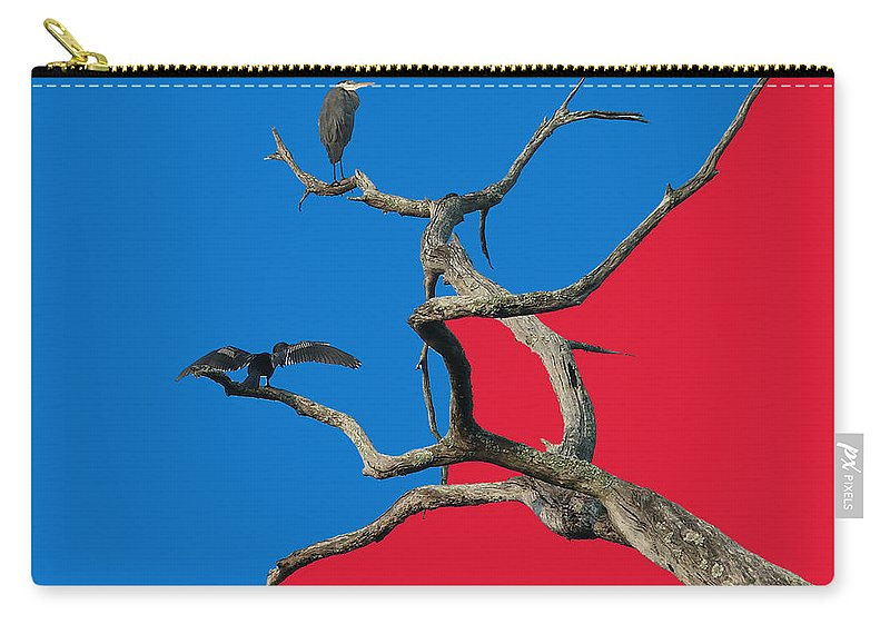 Birds Carry-all Pouch featuring the digital art Pop Art by Robert Meanor