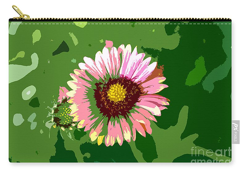 Flower Carry-all Pouch featuring the photograph Pop Flower Work Number 23 by David Lee Thompson