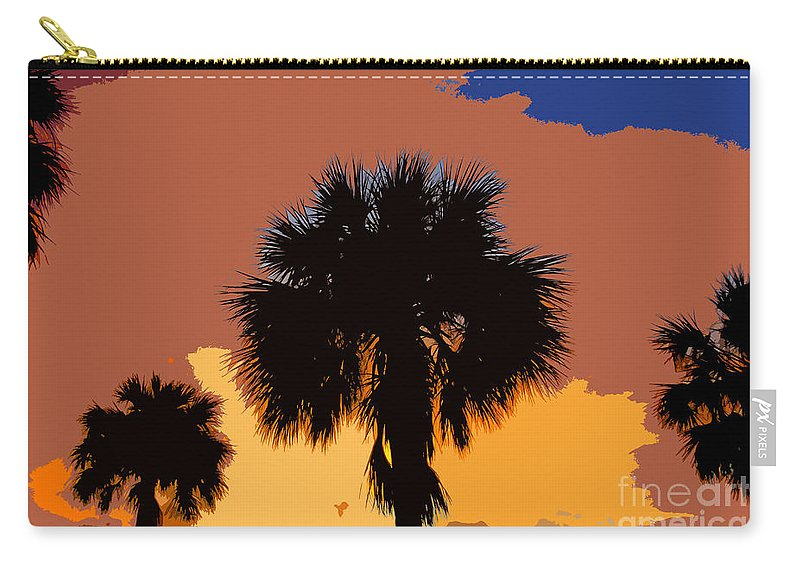 Palm Trees Carry-all Pouch featuring the photograph Pop Palms by David Lee Thompson