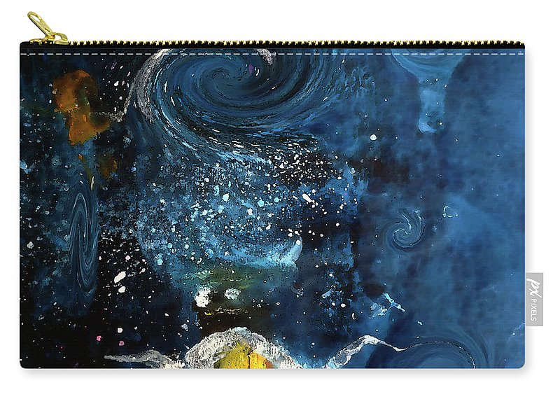 Champagne Carry-all Pouch featuring the digital art Pop The Champagne Top By Lisa Kaiser by Lisa Kaiser