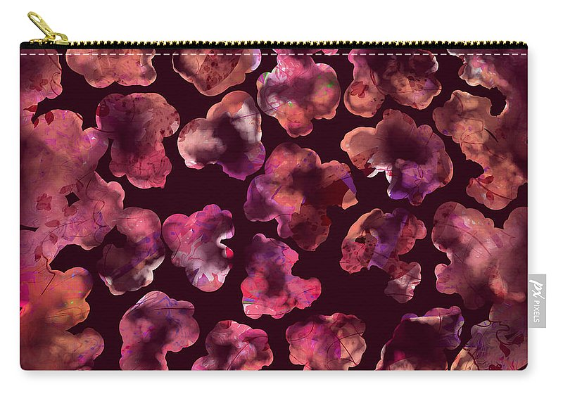 Abstract Carry-all Pouch featuring the digital art Popcorn Extreme by Rachel Christine Nowicki