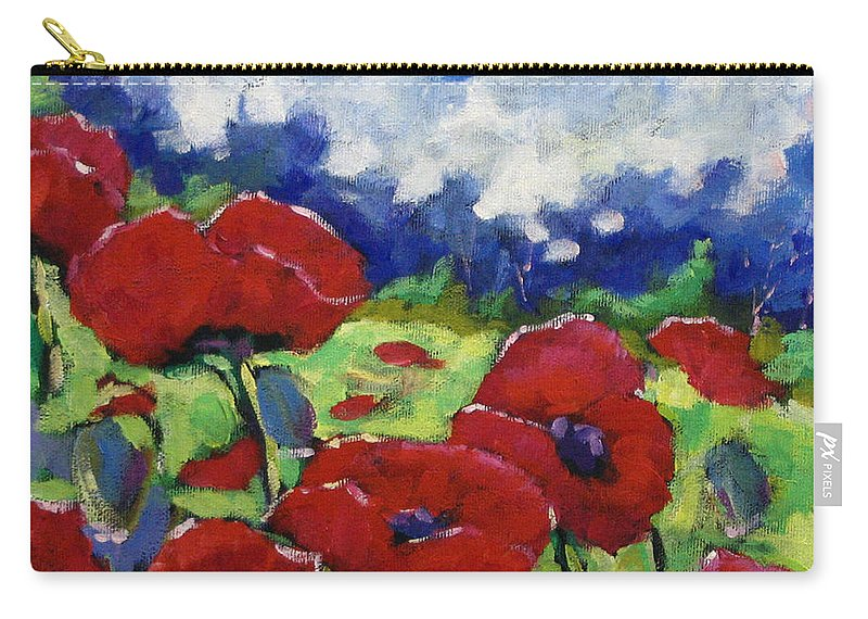 Art Carry-all Pouch featuring the painting Poppies 003 by Richard T Pranke