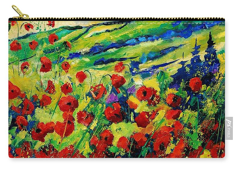Flowers Carry-all Pouch featuring the painting Poppies 78 by Pol Ledent