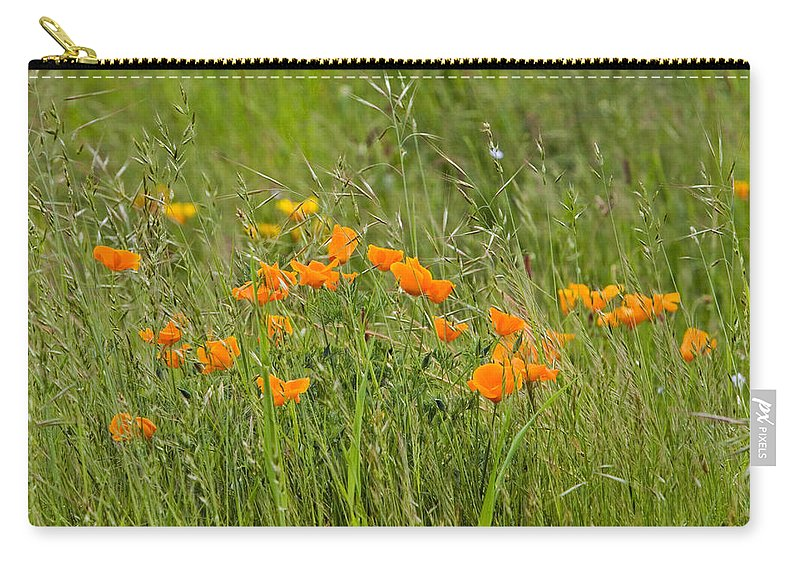 Floral Carry-all Pouch featuring the photograph Poppies by Randall Ingalls