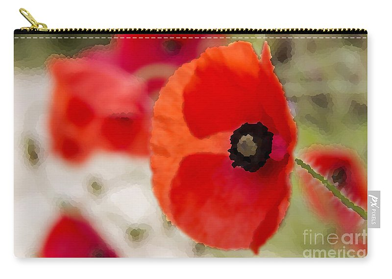 Poppy Carry-all Pouch featuring the photograph Poppies by Sebastien Coell