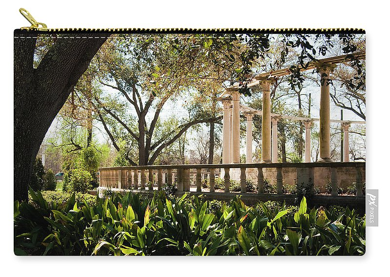 Kathleen K Parker Carry-all Pouch featuring the photograph Popp's Fountain by Kathleen K Parker
