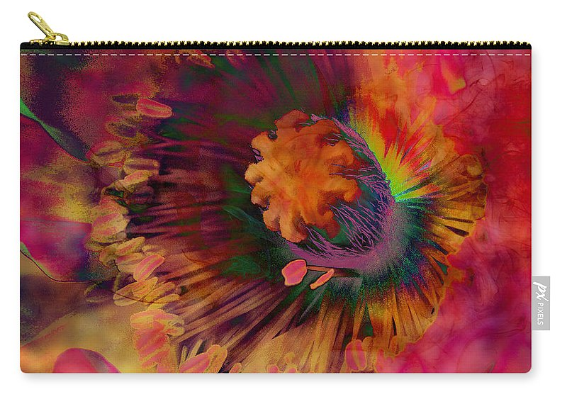 Poppy Carry-all Pouch featuring the digital art Poppy by Barbara Berney