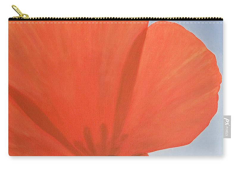 Flower Carry-all Pouch featuring the painting Poppy by Rob De Vries