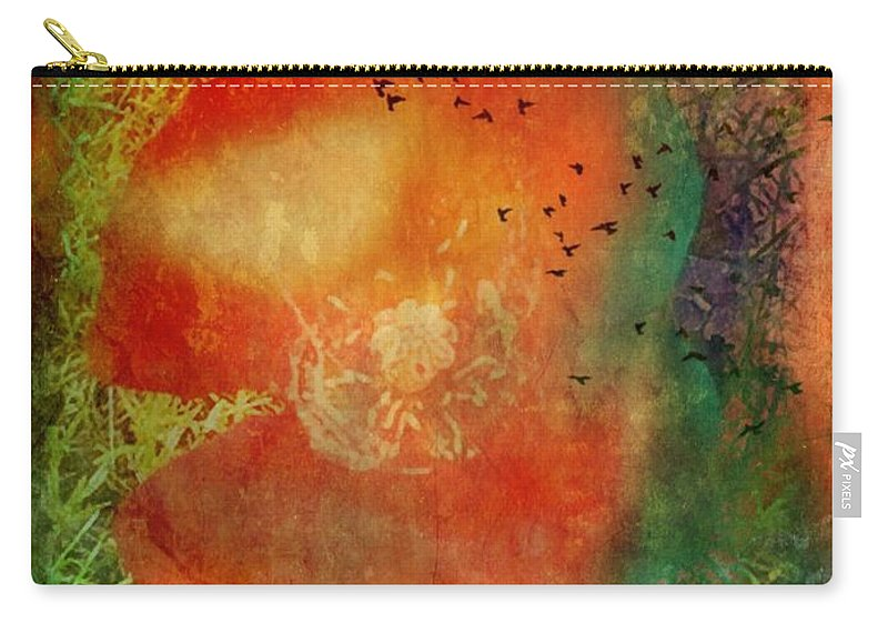 Flowers Carry-all Pouch featuring the photograph Poppy Study by Hetty C DeCossy