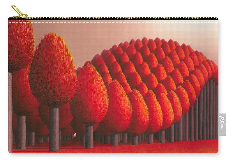 Tree Carry-all Pouch featuring the painting Populus Flucta by Patricia Van Lubeck