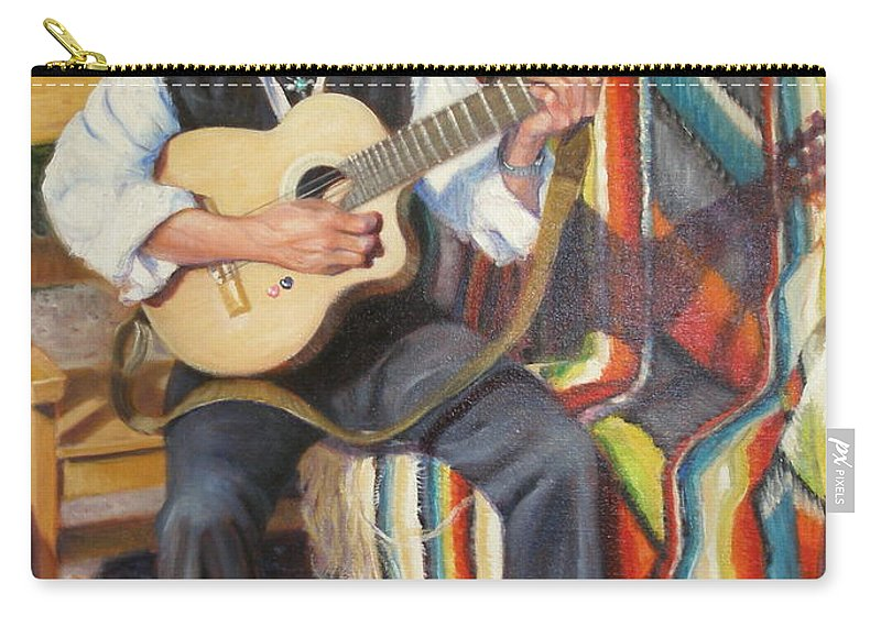 Realism Carry-all Pouch featuring the painting Por Tu Amor by Donelli DiMaria