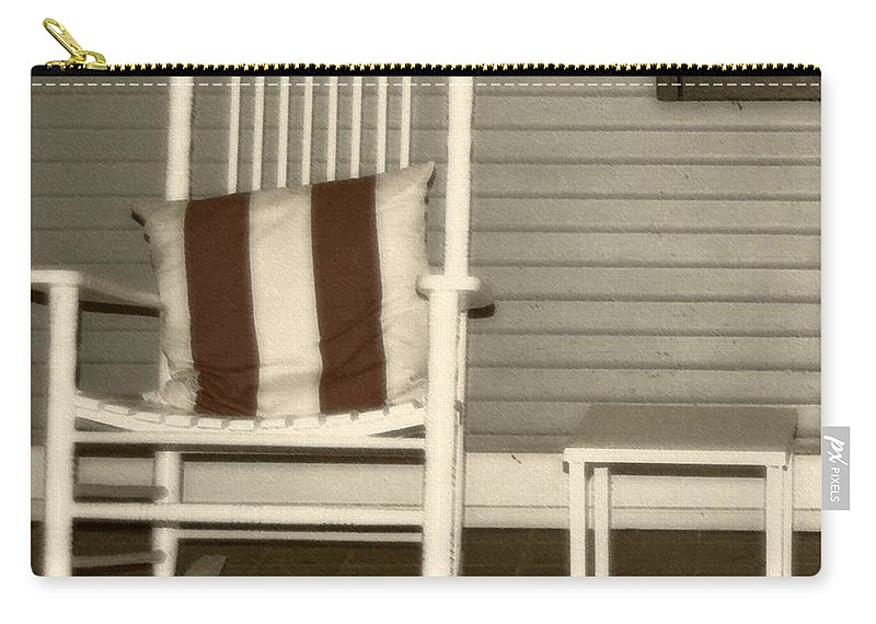 Rocking Chair Carry-all Pouch featuring the photograph Porch Rocker by Debbi Granruth