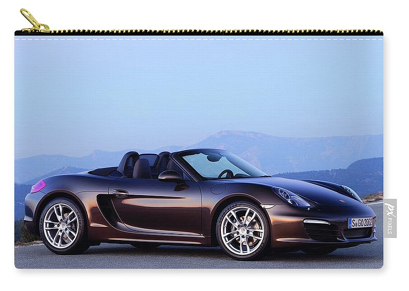 Porsche Boxster Carry-all Pouch featuring the photograph Porsche Boxster by Jackie Russo