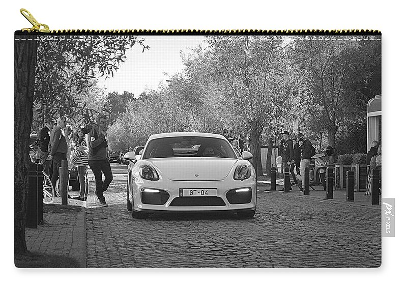 Porsche Carry-all Pouch featuring the photograph Porsche Cayman Gt4 by Sportscars OfBelgium