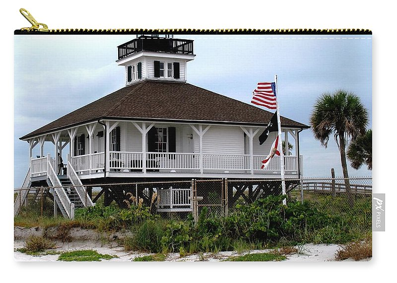 Florida Carry-all Pouch featuring the photograph Port Charlotte Harbor Lighthouse by Ian MacDonald