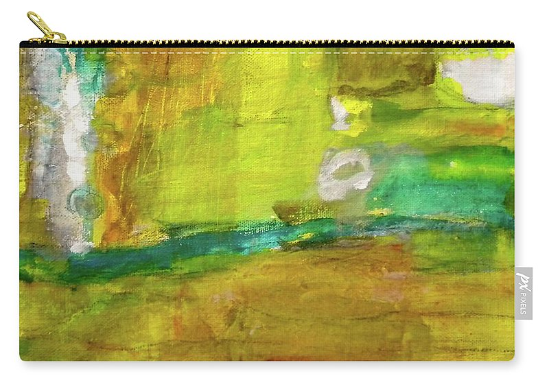 Painting Carry-all Pouch featuring the painting Portal by Simran Sofia Love