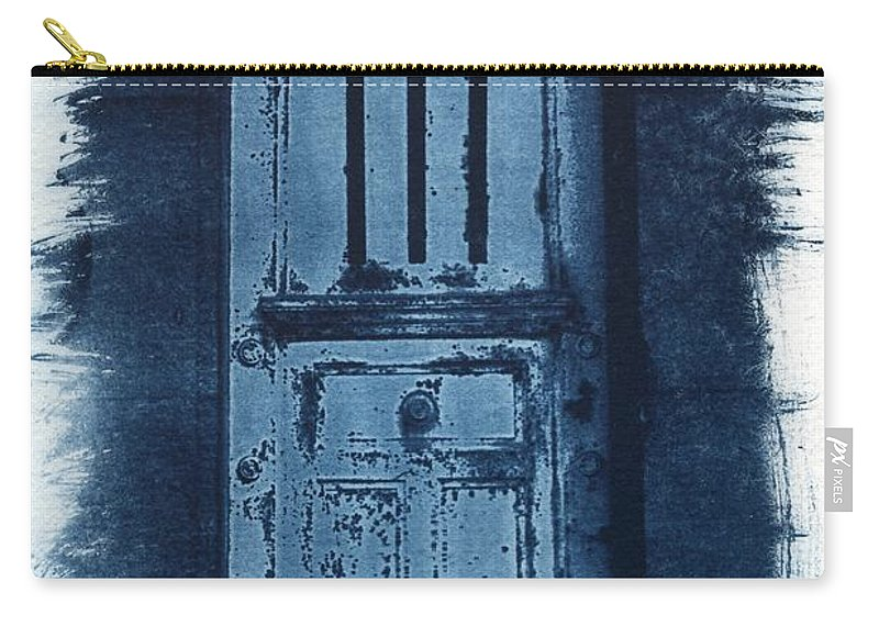 Cyanotype Carry-all Pouch featuring the photograph Portals by Jane Linders