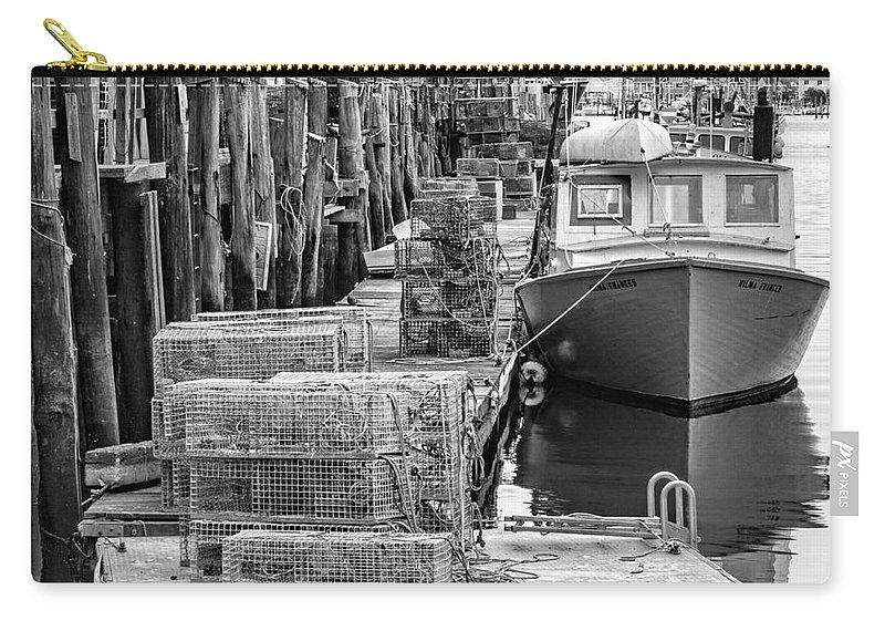 Atlantic Carry-all Pouch featuring the photograph Portland Dock by Jerry Fornarotto