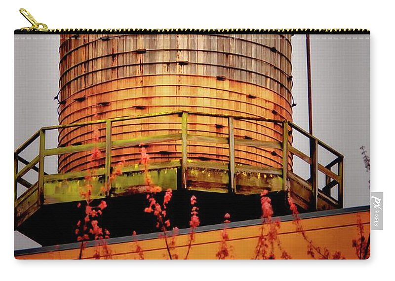 Water Tower Carry-all Pouch featuring the photograph Portland Water Tower IIi by Albert Seger