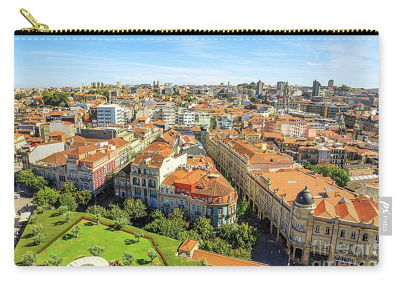 Porto Carry-all Pouch featuring the photograph Porto Panorama Skyline by Benny Marty