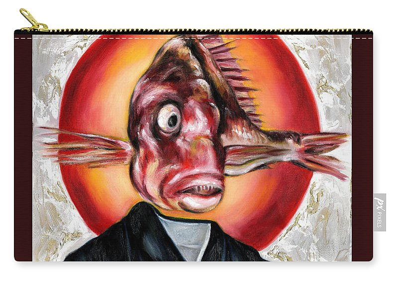 Japanese Carry-all Pouch featuring the painting Portrait by Hiroko Sakai
