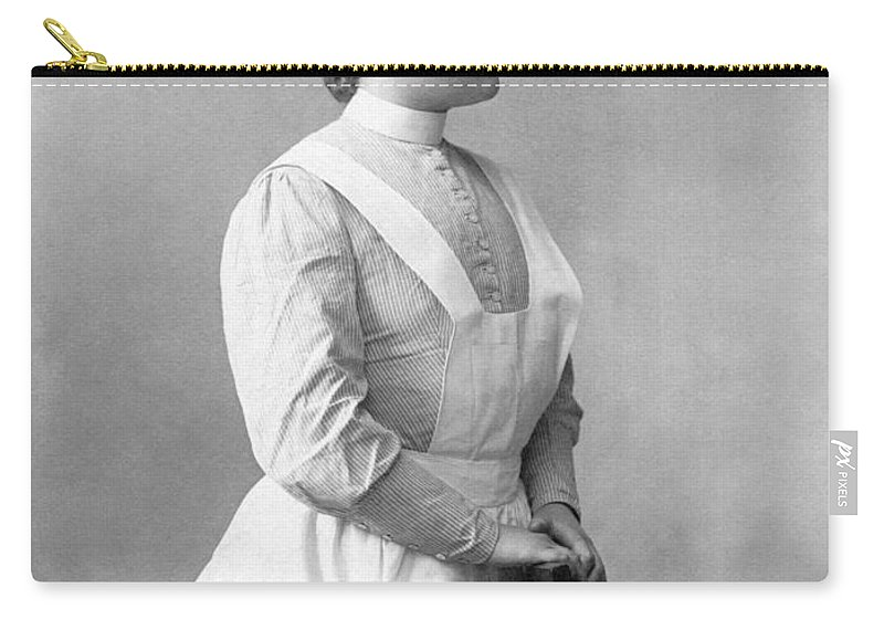 1 Person Carry-all Pouch featuring the photograph Portrait Of A Nurse by Underwood Archives