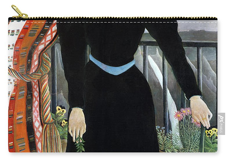 Portrait Carry-all Pouch featuring the painting Portrait Of A Woman by Henri Rousseau