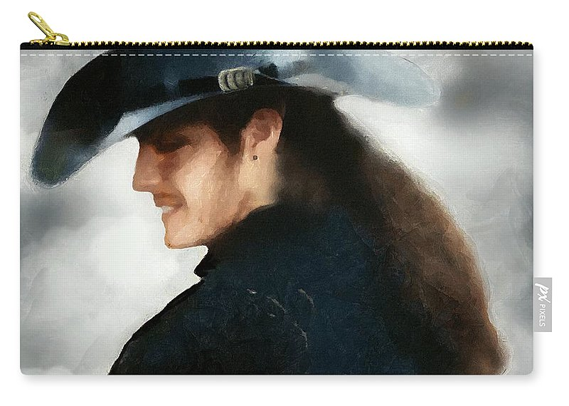 Buccaneer Carry-all Pouch featuring the painting Portrait Of A Young Man As A Buccaneer by RC DeWinter