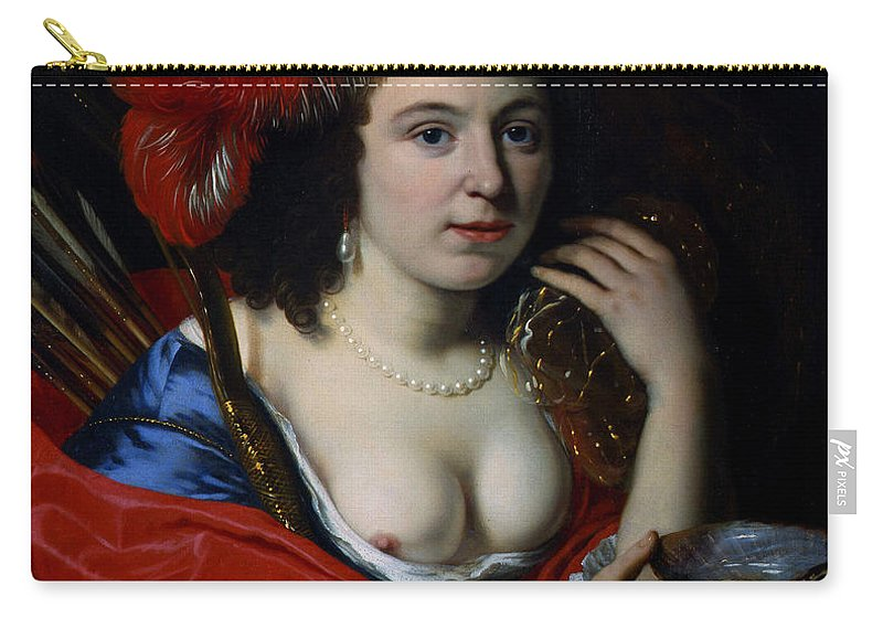 Bartholomeus Van Der Helst Carry-all Pouch featuring the painting Portrait Of Anna Du Pire As Granida by Bartholomeus van der Helst