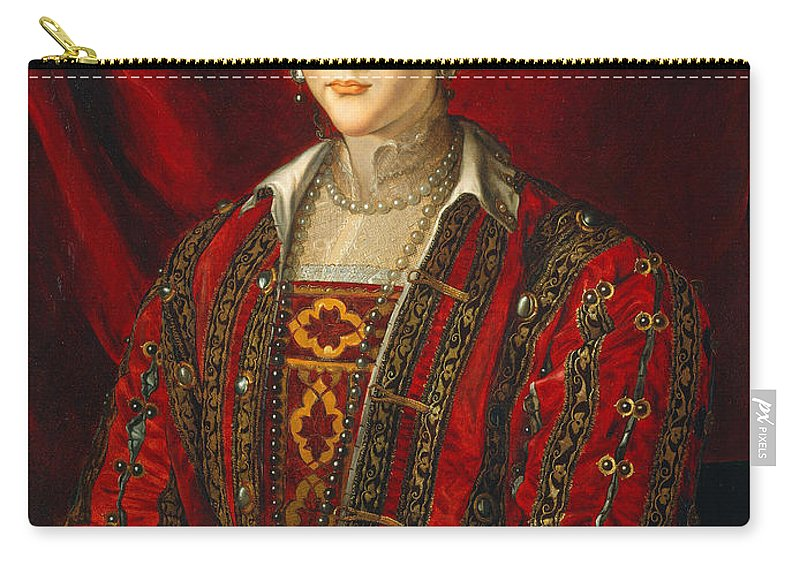 Bronzino Carry-all Pouch featuring the painting Portrait Of Eleanora Di Toledo by Bronzino