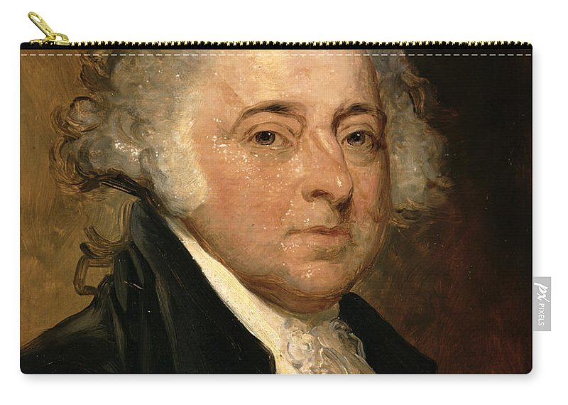Portrait Of John Adams (oil On Canvas) By Gilbert Stuart (1755-1828) (after) Carry-all Pouch featuring the painting Portrait Of John Adams by Gilbert Stuart