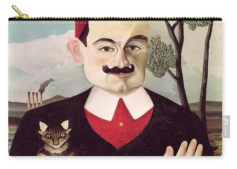 Portrait Carry-all Pouch featuring the painting Portrait Of Pierre Loti by Henri Rousseau