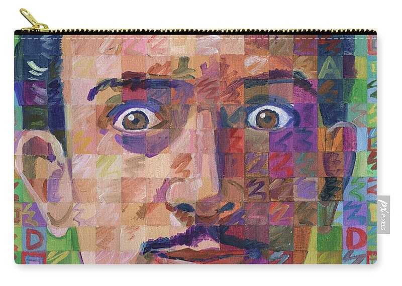 Salvador Dali Carry-all Pouch featuring the painting Portrait Of Salvador Dali by Randal Huiskens