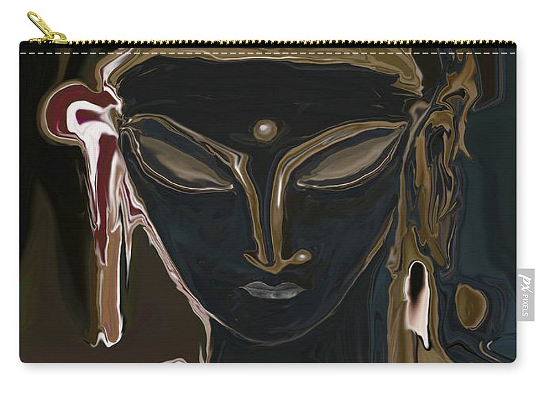 Art Carry-all Pouch featuring the digital art Portrait Of Vajrasattva by Rabi Khan