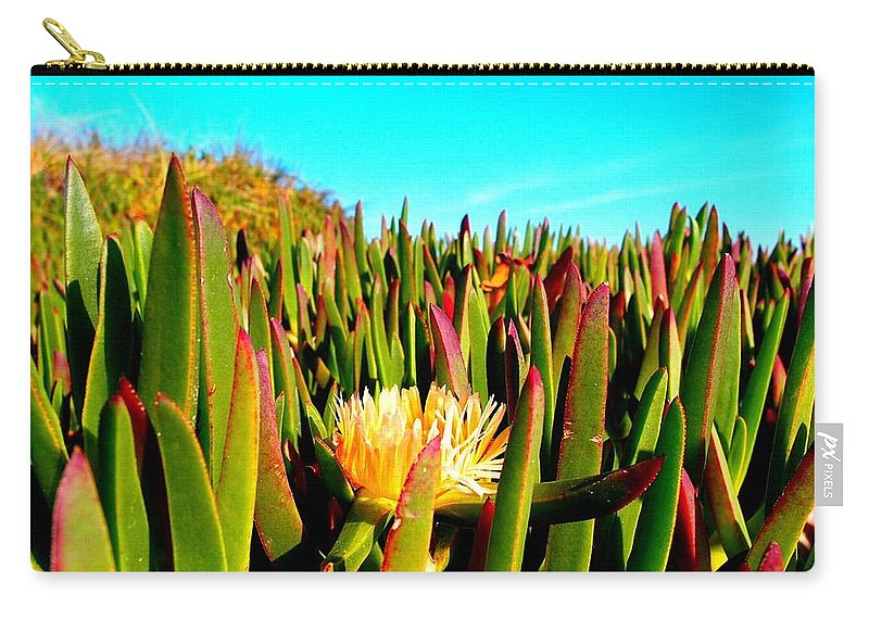 Coastal Plants Carry-all Pouch featuring the photograph Portuguese Coastal Plants by Dora Hathazi Mendes