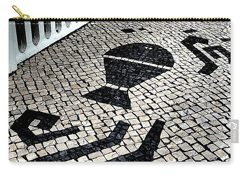 Cobblestone Carry-all Pouch featuring the photograph Portuguese Cobblestone by Dora Hathazi Mendes