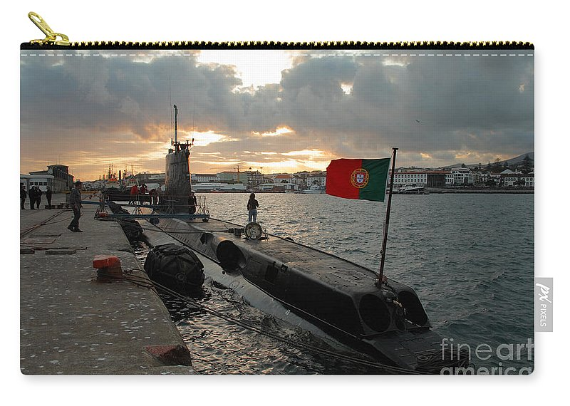 Harbor Carry-all Pouch featuring the photograph Portuguese Navy Submarine by Gaspar Avila