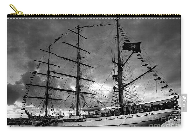 Brig Carry-all Pouch featuring the photograph Portuguese Tall Ship by Gaspar Avila