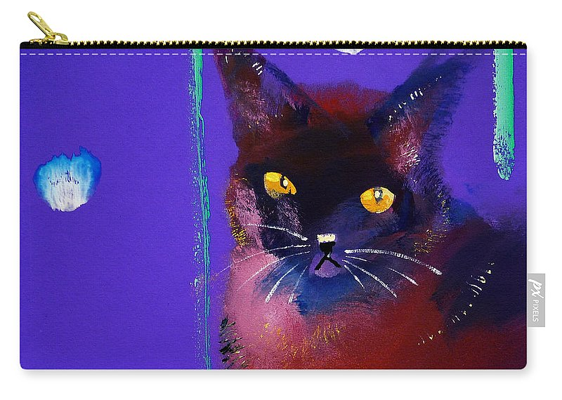 Cat Carry-all Pouch featuring the painting Posh Tom Cat by Charles Stuart