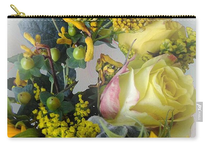 Bouquet Carry-all Pouch featuring the photograph Posies Picturesque by RC DeWinter
