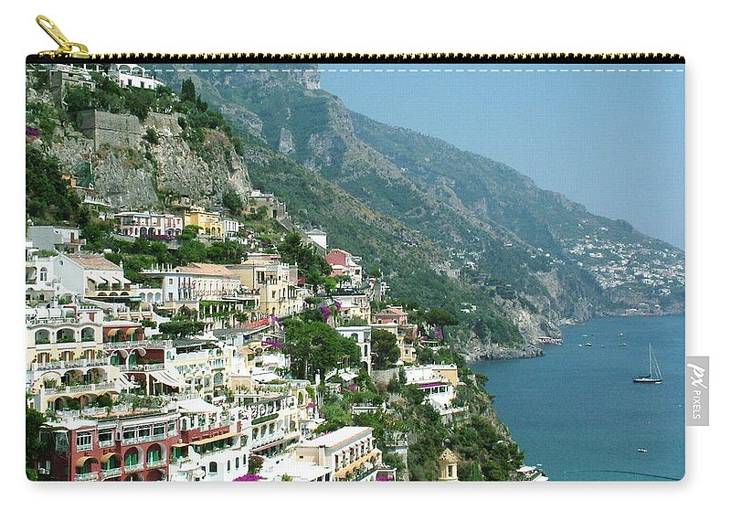 Positano Carry-all Pouch featuring the photograph Positano In The Afternoon by Donna Corless