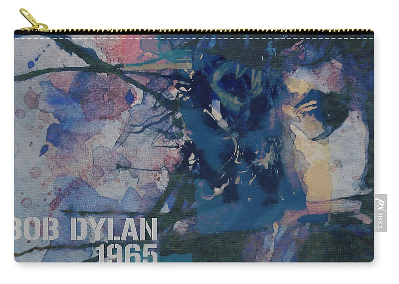 Bob Dylan Carry-all Pouch featuring the painting Positively 4th Street by Paul Lovering