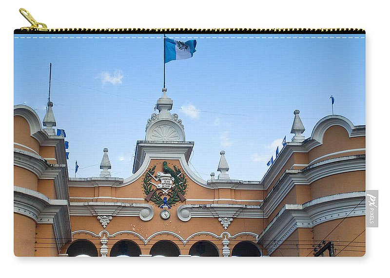Post Office Zone 1 Guatamala City Carry-all Pouch featuring the photograph Post Office Guatamala City 1 by Douglas Barnett