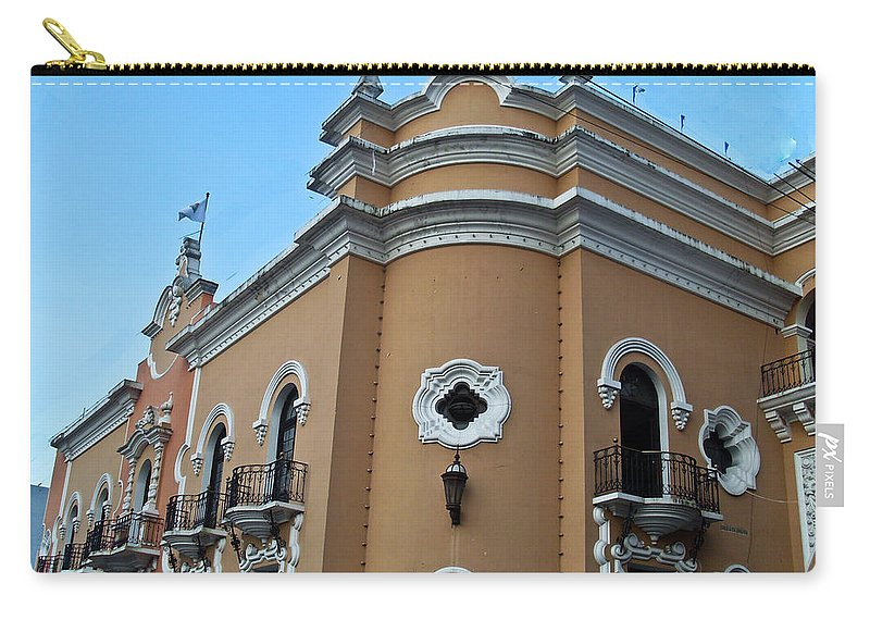 Carry-all Pouch featuring the photograph Post Office Guatamala City 5 by Douglas Barnett