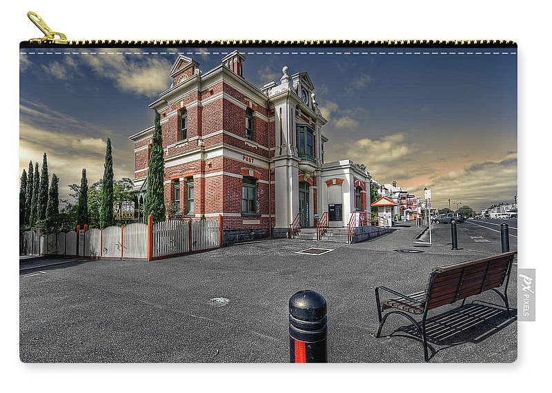 Architecture Carry-all Pouch featuring the photograph Post Office by Wayne Sherriff