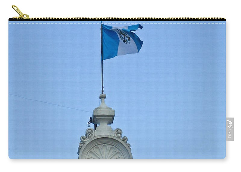 Post Carry-all Pouch featuring the photograph Post Office Zone 1 Guatamala City 3 by Douglas Barnett