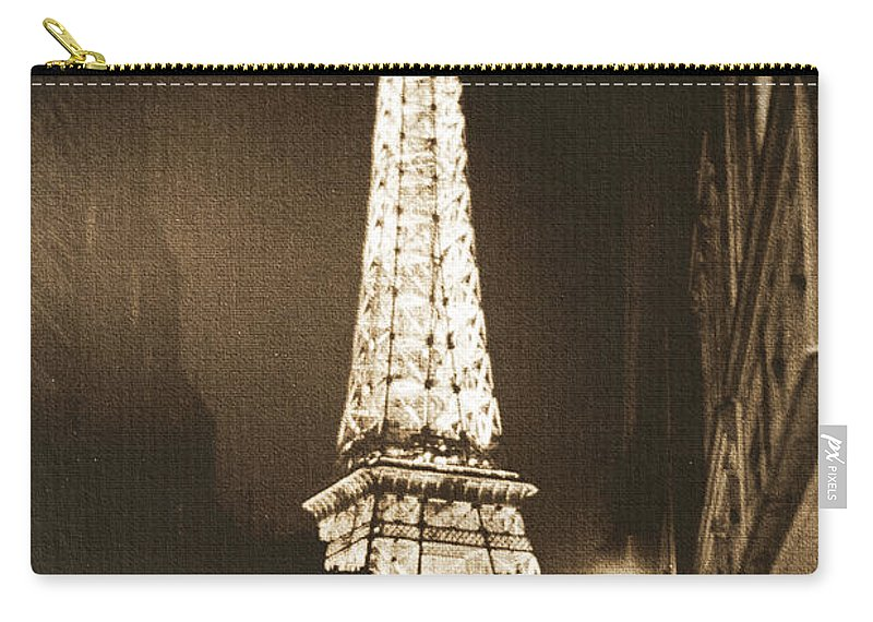 Paris Carry-all Pouch featuring the photograph Postcard From Paris- Art By Linda Woods by Linda Woods