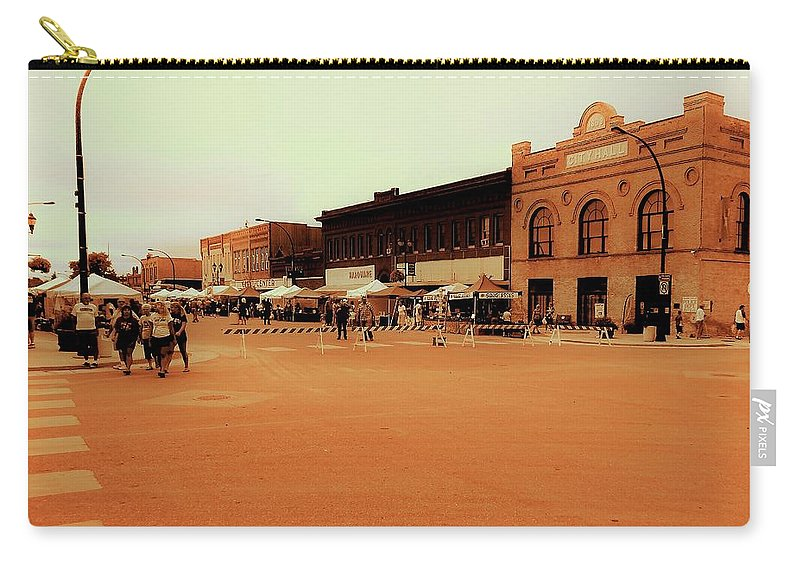 Downtown Carry-all Pouch featuring the photograph Potato Days In Barnesville by Curtis Tilleraas